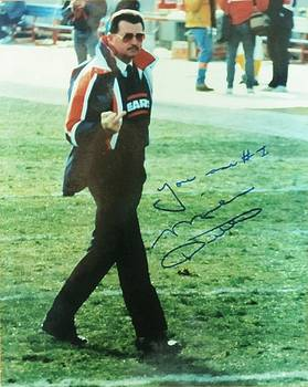 Mike Ditka Chicago Bears Head Coach by Donna Wilson