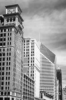 Paul Velgos - Chicago Buildings Black and White Photo
