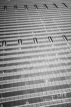 Paul Velgos - Chicago Glass Building Black and White Photo