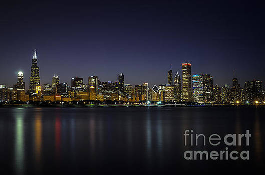Chicago in Blue by Andrea Silies