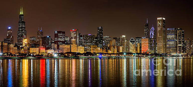 Chicago NFL Draft Town by Jeff Lewis