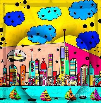 Chicago Popart by Nico Bielow by Nico Bielow