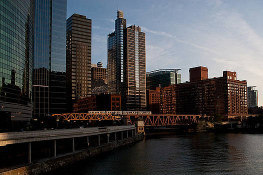 Chicago River and Downtown by Jane Melgaard
