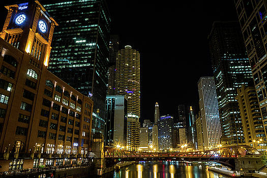 Chicago River Night by John Daly