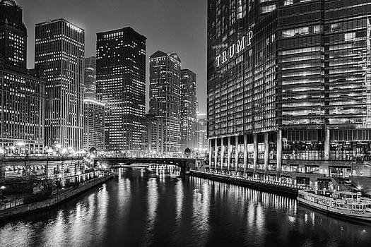 Chicago River View at Night by Andrew Soundarajan