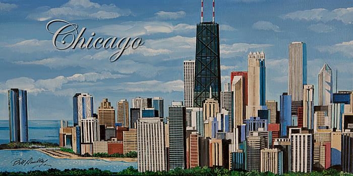 Chicago Skyline by Bill Dunkley