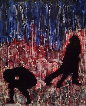 Chicago Skyline Fireworks Agony and the Waltz by M Zimmerman