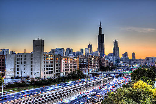Chicago Sunrise Rush Hour by Shawn Everhart
