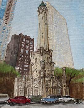 Chicago Water Tower 1D by Jeffrey Oleniacz
