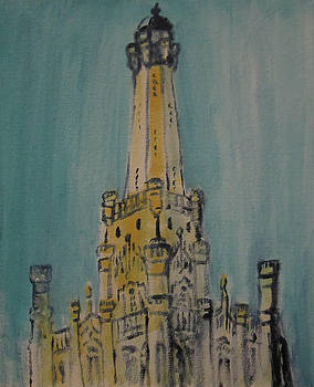 Chicago Water Tower 2D by Jeffrey Oleniacz
