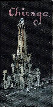 Chicago Water Tower Mini 1 by Jeffrey Oleniacz