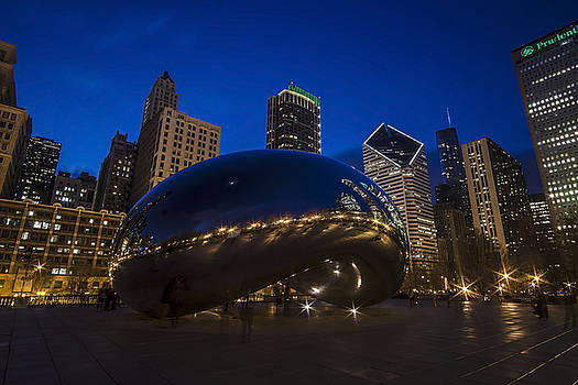Chicago's Bean at blue hour  by Sven Brogren