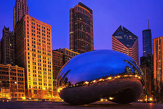 Chicago's Bean at Twilight by Andrew Soundarajan
