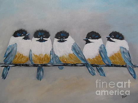 Chickadee -Happy Time by Beverly Livingstone