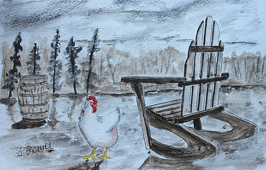 Chicken by Chair by Jack G Brauer