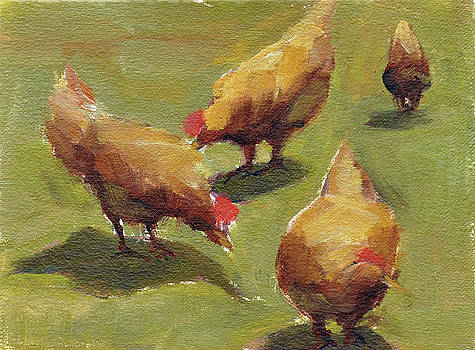 Chickens at Work by Mary Byrom