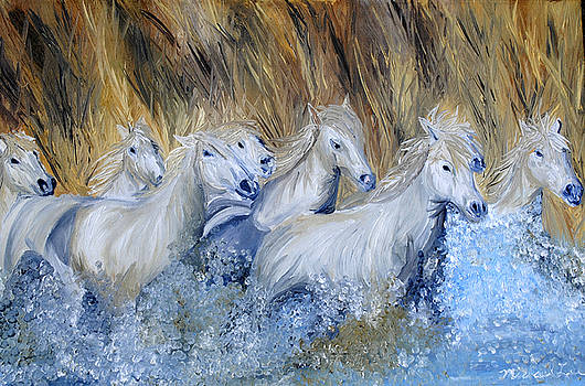 Chicoteague Ponies by Michael Lee