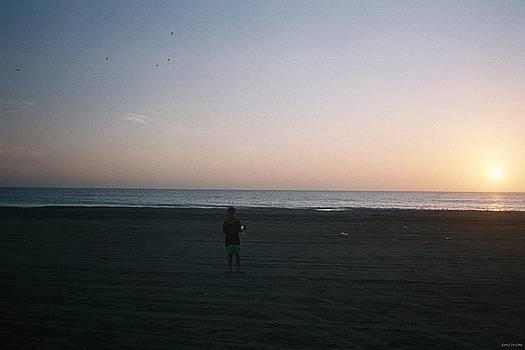 Child At Sunset by David Cardona