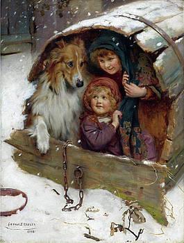 Children witth Collie dog by Allen Beilschmidt