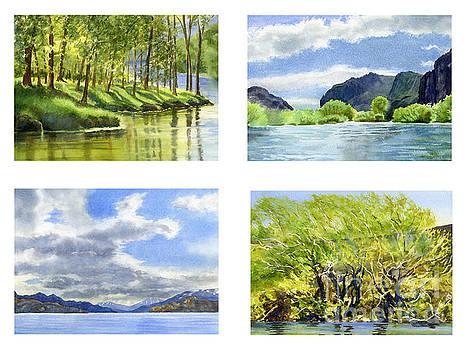 Sharon Freeman - Chilean Trees, Reflections, Mountain Cliffs