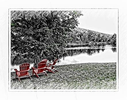 Chillin Along The Waterway by Roxanne Marshal