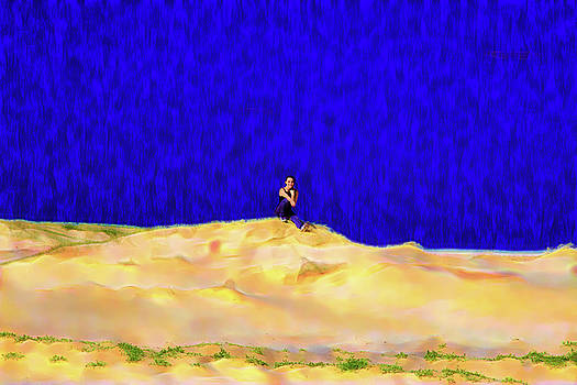 Chilling On Sand Dune by Miroslava Jurcik
