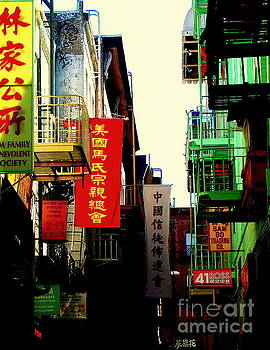 China Town Banners in San Francisco by Michael Hoard