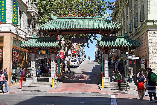 Wingsdomain Art and Photography - Chinatown Gate on Grant Avenue in San Francisco