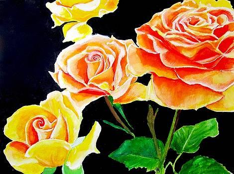 Chintz Tea Roses by Carol Blackhurst