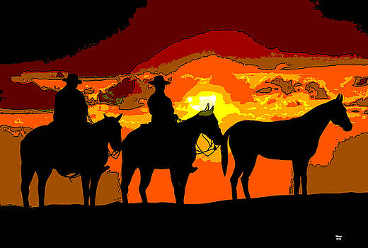 Chisholm Trail by Charles Shoup