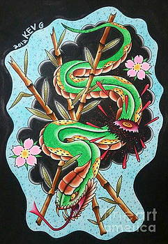 Chopped Snake by Kev G
