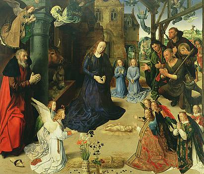 Hugo van der Goes - Christ Child Adored by Angels
