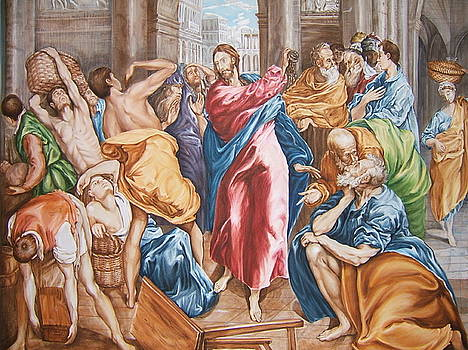 Christ  Driving the  Money  Changers  From  The  Temple by Nasko Dimov