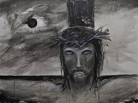 Christian JESUS Acrylic Painting on Fine Art Paper by Gray  Artus