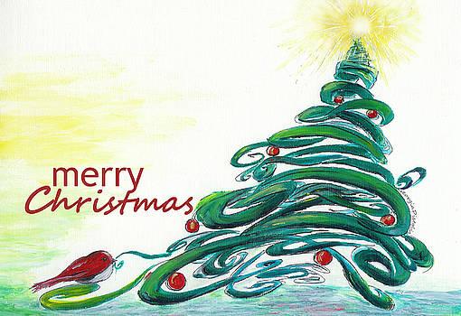 Christmas bird by Georgia Pistolis