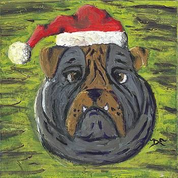 Christmas Bulldog by Davis Elliott