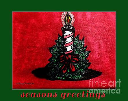 Christmas candle  seasons greetings by MaryLee Parker