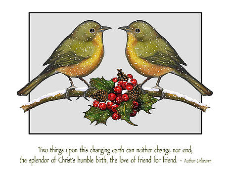 Joyce Geleynse - Christmas Card Birds And Friendship