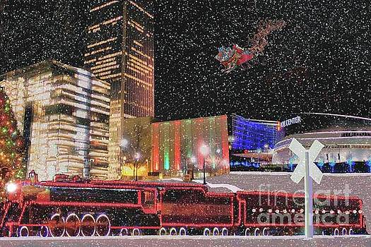 Christmas Eve in Downtown Tulsa by Janette Boyd