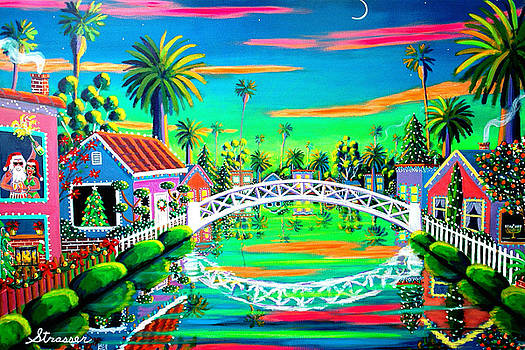 Christmas Eve on Retro Canal by Frank Strasser