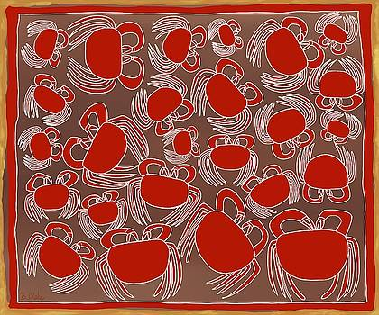 Christmas Island Red Crabs by Barbara Drake