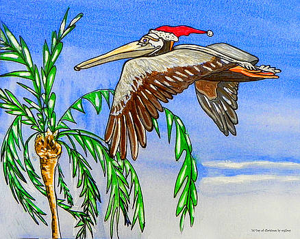 Christmas Pelican by W Gilroy