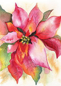 Christmas Poinsettia by Marsha Woods