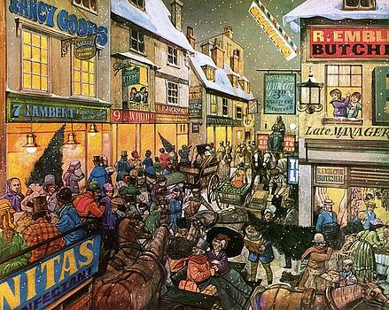 Richard Hook - Christmas Shopping in Victorian Times