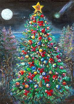 Christmas Tree at Twilight by Bernadette Krupa