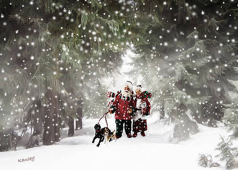 Christmas walking by Johanne Dauphinais