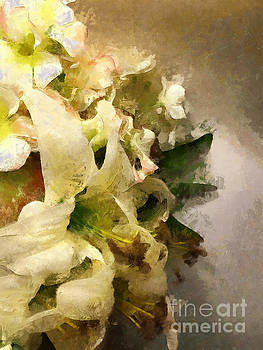 Christmas White Flowers by Claire Bull