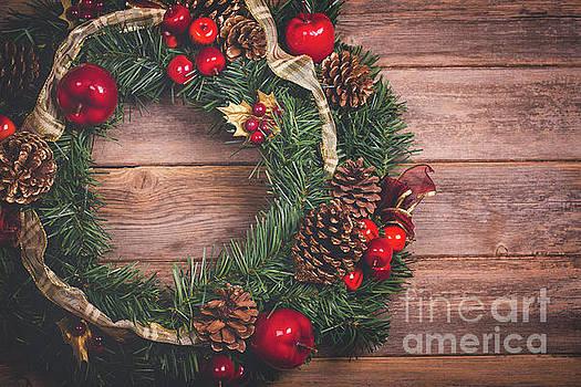 Christmas wreath  by Jane Rix