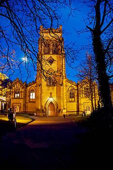 Church at night by Susan Tinsley