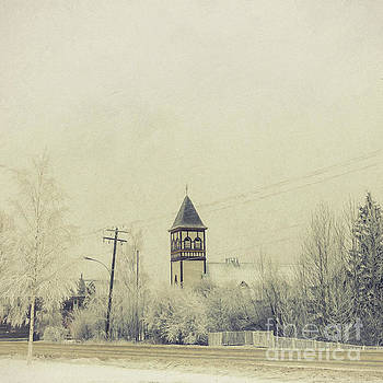 Church in the fog by Priska Wettstein